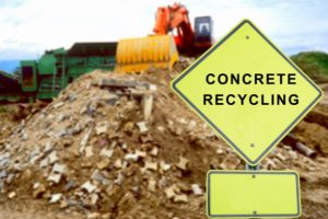 Concrete recycling after demolition
