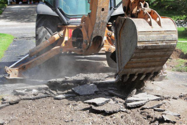 Concrete Demolition Project of a driveway